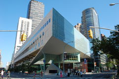 Alice Tully Hall at Lincoln Center, New York City. Alice Tully Hall is concert hall at the Lincoln Center for the Performing Arts in New York City. The dramatic Royalty Free Stock Image