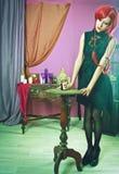 Alice und kann beschriftet lizenzfreies stockbild