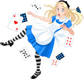 Dalende Alice stock illustratie