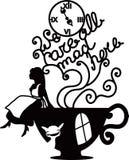 Alice w Kraina cudów wektoru ilustraci Zdjęcia Royalty Free