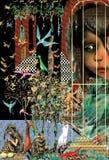 Alice w krainie cudów przy królika domem obrazy royalty free