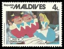 Alice w krainy cudów i bajki charakterach obrazy royalty free