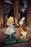 Alice and the white Rabbit - Alice's Shop, Oxford Royalty Free Stock Images