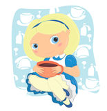 Alice in wonderland. Vector illustration Alice in Wonderland Stock Illustration
