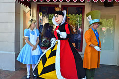 Alice in Wonderland. Disneyland Characters from the movie Alice in Wonderland Royalty Free Stock Photo