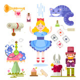 Alice in Wonderland vector illustration