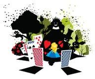 Alice in Wonderland. Illustration of children fairy tale Alice in Wonderland Royalty Free Stock Images