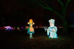 Alice in Wonderland lantern festival, Southwark Park, London UK stock image