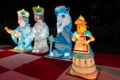 Alice in Wonderland lantern festival, Southwark Park, London UK stock photo