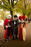 Alice in Wonderland at Lucca Comics and Games 2017. Some characters from Disney`s Alice in Wonderland during the Lucca Comics and Games 2017 festival. Lucca stock photography