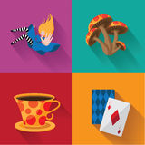 Alice in Wonderland pop art. Stock Images