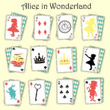Alice in Wonderland. Alice's Adventures in Wonderland (commonly shortened to Alice in Wonderland) is an 1865 novel written by English author Charles Lutwidge Stock Photo