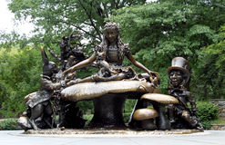 The Alice in Wonderland sculpture, Central park New York. Royalty Free Stock Photos