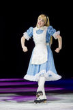 Alice in Wonderland Skating Stock Photos