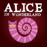 Alice in Wonderland title. Cheshire Cat. Fantastic animal. Fabul Stock Photography