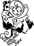 Alice in Wonderland vector illustration Stock Photos