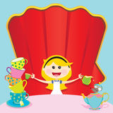 alice zaproszenia przyjęcia unbirthday kraina cudów Zdjęcia Royalty Free