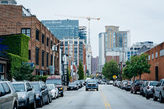Aliceanna Street, in Fells Point, Baltimore, Maryland. Stock Photography