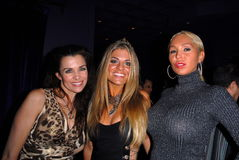 Alicia Arden,Mary Carey,Bridgetta Tomarchio. Alicia Arden, Bridgett Tomarchio and Mary Carey at Bridgetta Tomarchio's Birthday Bash and Babes in Toyland 3rd stock photography