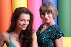 Alicia Arden,Rena Riffel. Alicia Arden and Rena Riffel  at a promotional photo shoot for the Leica S2 Medium Format 37 MP Digital Camera Debut, Samys Camera, Los Royalty Free Stock Photos