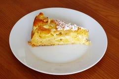Alicia deliciosa de la empanada de manzana Fotografía de archivo