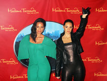 Alicia Keys and her wax figure Royalty Free Stock Photography