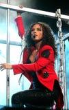 Alicia Keys performs in concert stock photo