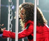 Alicia Keys presteert in overleg royalty-vrije stock foto