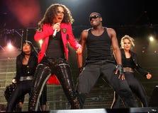 Alicia Keys presteert in overleg stock fotografie