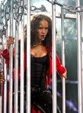 Alicia Keys presteert in overleg stock foto