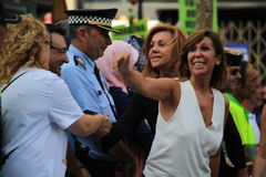 Alicia Sanchez Camacho at manifestation against terrorism Stock Photo