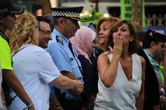 Alicia Sanchez Camacho at manifestation against terrorism Royalty Free Stock Photo