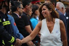Alicia Sanchez Camacho at manifestation against terrorism Stock Photos