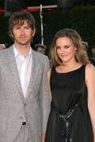 Alicia Silverstone. Christopher Jarecki and Alicia Silverstone  at the Los Angeles Premiere of 'Tropic Thunder'. Mann's Village Theater, Westwood, CA. 08-11-08 Stock Image