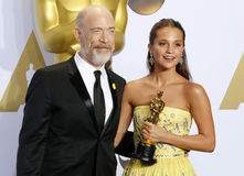 Alicia Vikander and J.K Simmons Stock Image
