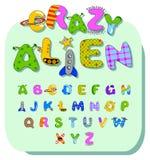 alien алфавит Стоковые Изображения RF
