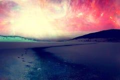 alien ландшафт Стоковая Фотография RF