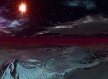 alien взгляд ландшафта Стоковые Фотографии RF
