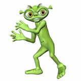 alien вспугнутый зеленый цвет Стоковые Фото