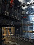 alien встреча города Стоковое Изображение