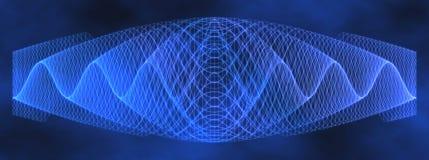 alien голубая волна картины сетки Стоковое Фото