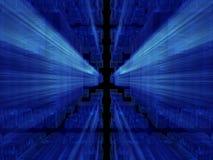 alien голубая кубическая фантазия баз данных Стоковые Фотографии RF