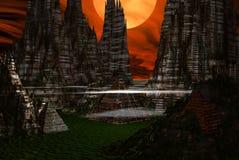 alien город Стоковое Изображение RF