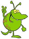 alien запятнанный усмехаться зеленого цвета Стоковое Фото