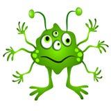 alien зеленый цвет clipart шаржа Стоковая Фотография