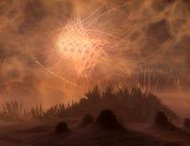 alien земля иллюстрация вектора