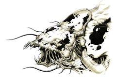 alien изверг страшный Стоковые Фотографии RF