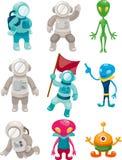 alien иконы астронавта Стоковое фото RF