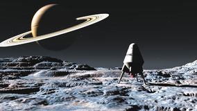alien космический корабль планеты стоковая фотография