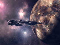 alien космос корабля крупного плана иллюстрация вектора